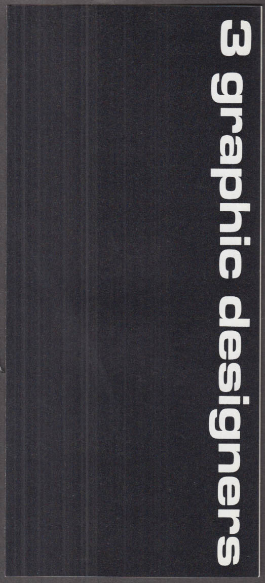 3 Graphic Designers Ives Mavignier Vignelli MOMA exhibition folder 1967