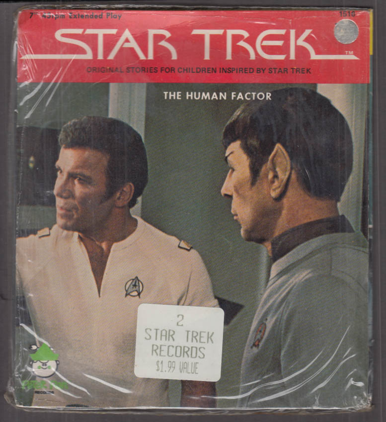 Star Trek 2-record set 45rpm Human Factor /  To Starve a Fleaver unopened 1975