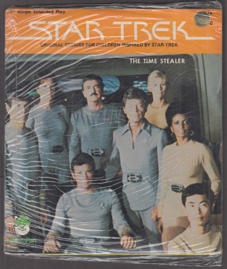 Star Trek 2-record set 45rpm The Time Stealer / In Vino Veritas 1975
