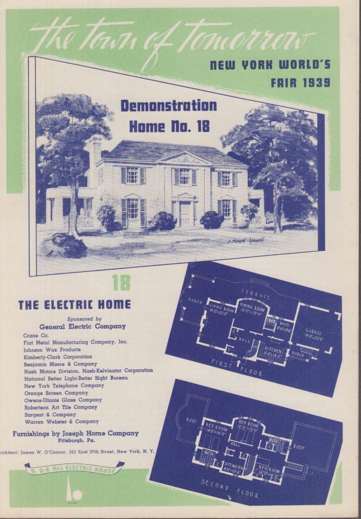 1939 New York World's Fair Town of Tomorrow folder #18 The Electric Home
