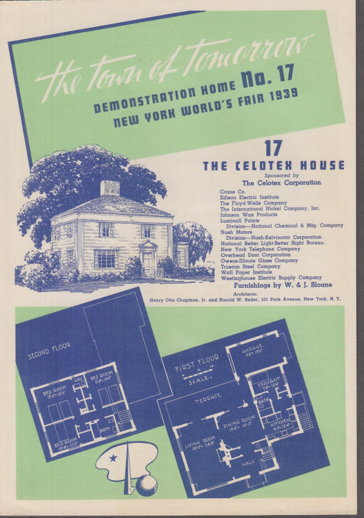 1939 New York World's Fair Town of Tomorrow folder #17 The Celotex Home