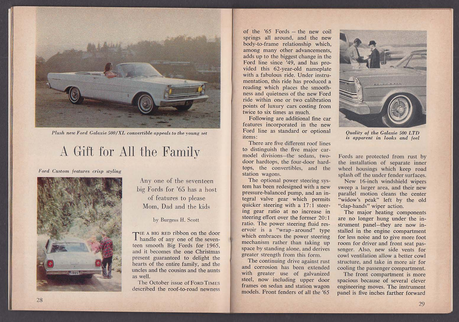 FORD TIMES 1965 Galaxie 500/XL Custom LTD Country Squire + 12 1964