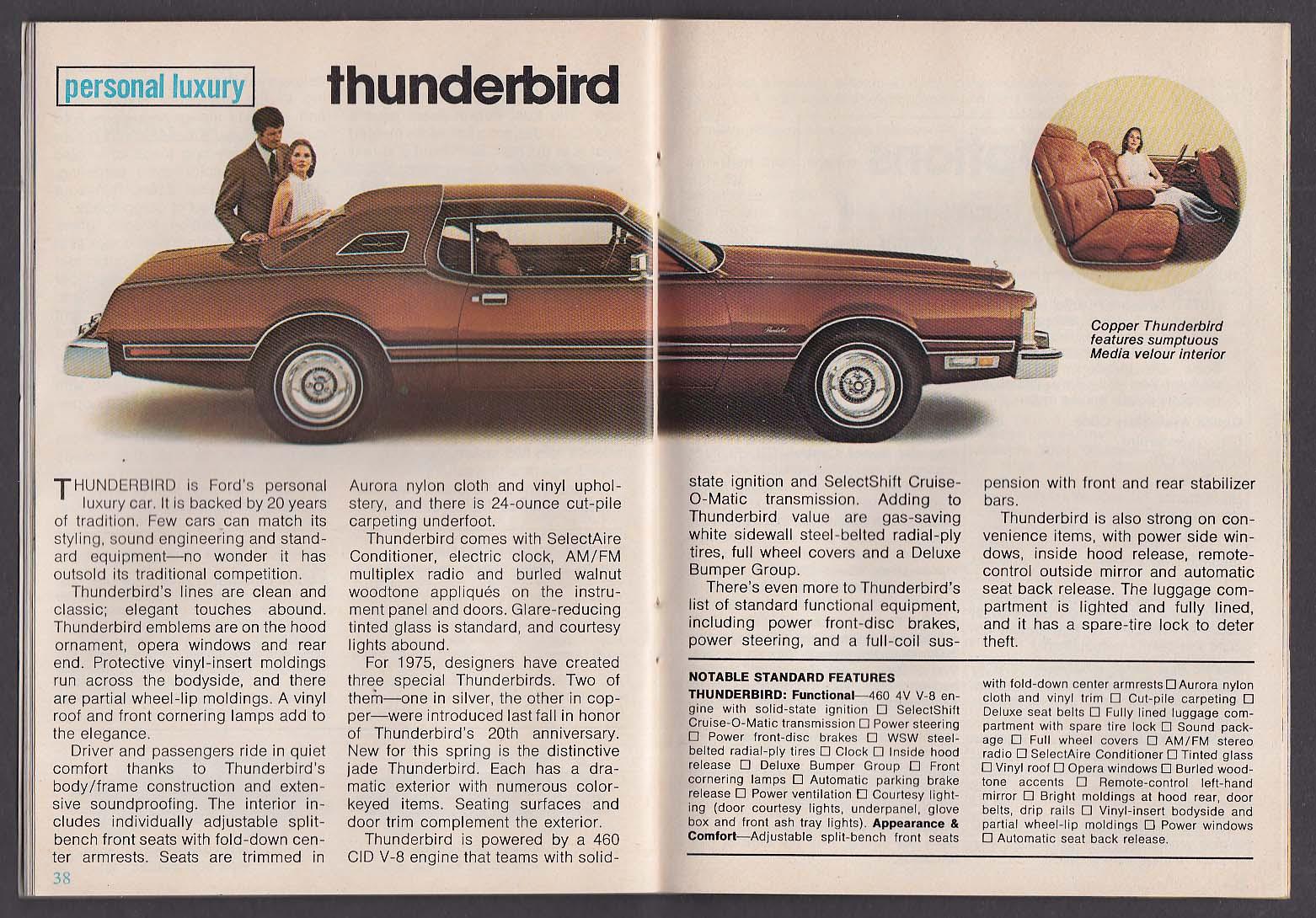 Ford Times Ltd Torino Elite Mustang Ii Granada Maverick Pinto O Matic Automatic Transmission Power Steering Brakes And A Thunderbird 4 1975