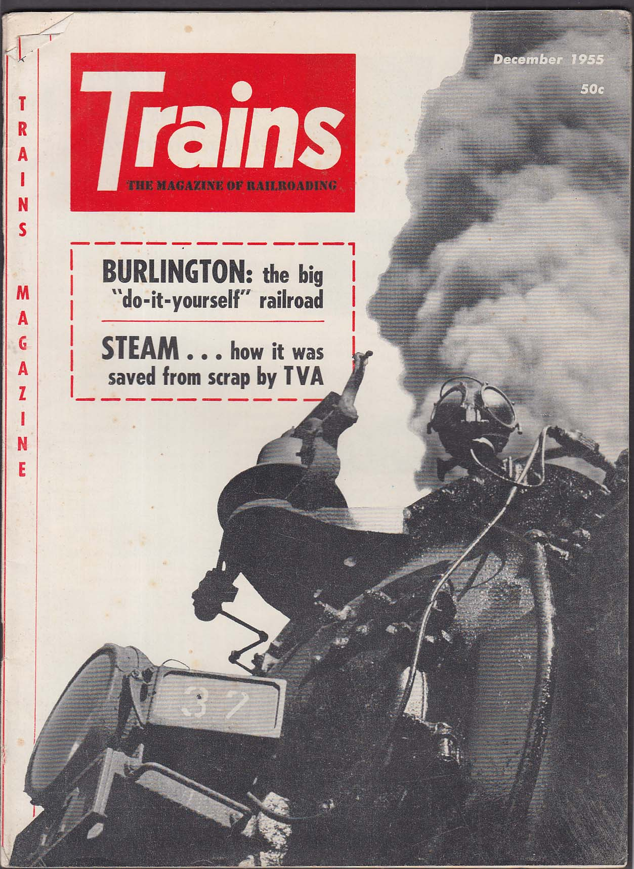 TRAINS Burlington Grand Trunk Western TVA Lehigh Valley Pennsylvania + 12 1955