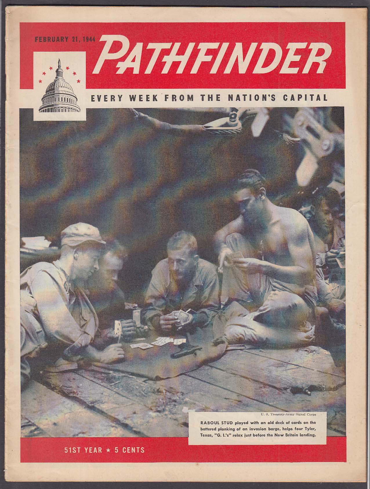 PATHFINDER Mail Order Schools; War News + 2/21 1944