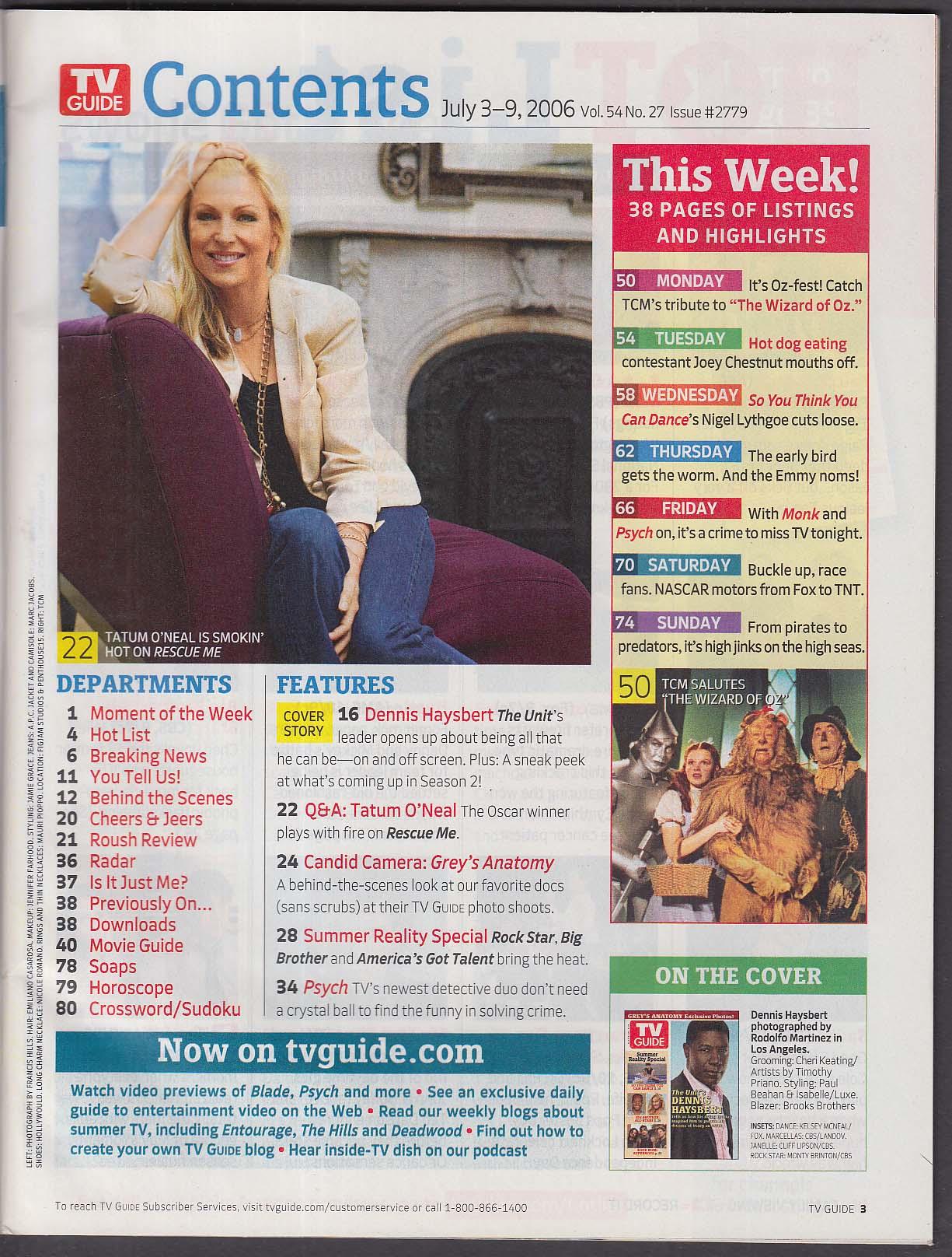 Tv Guide Dennis Haysbert Greys Anatomy Big Brother 73 79 2006