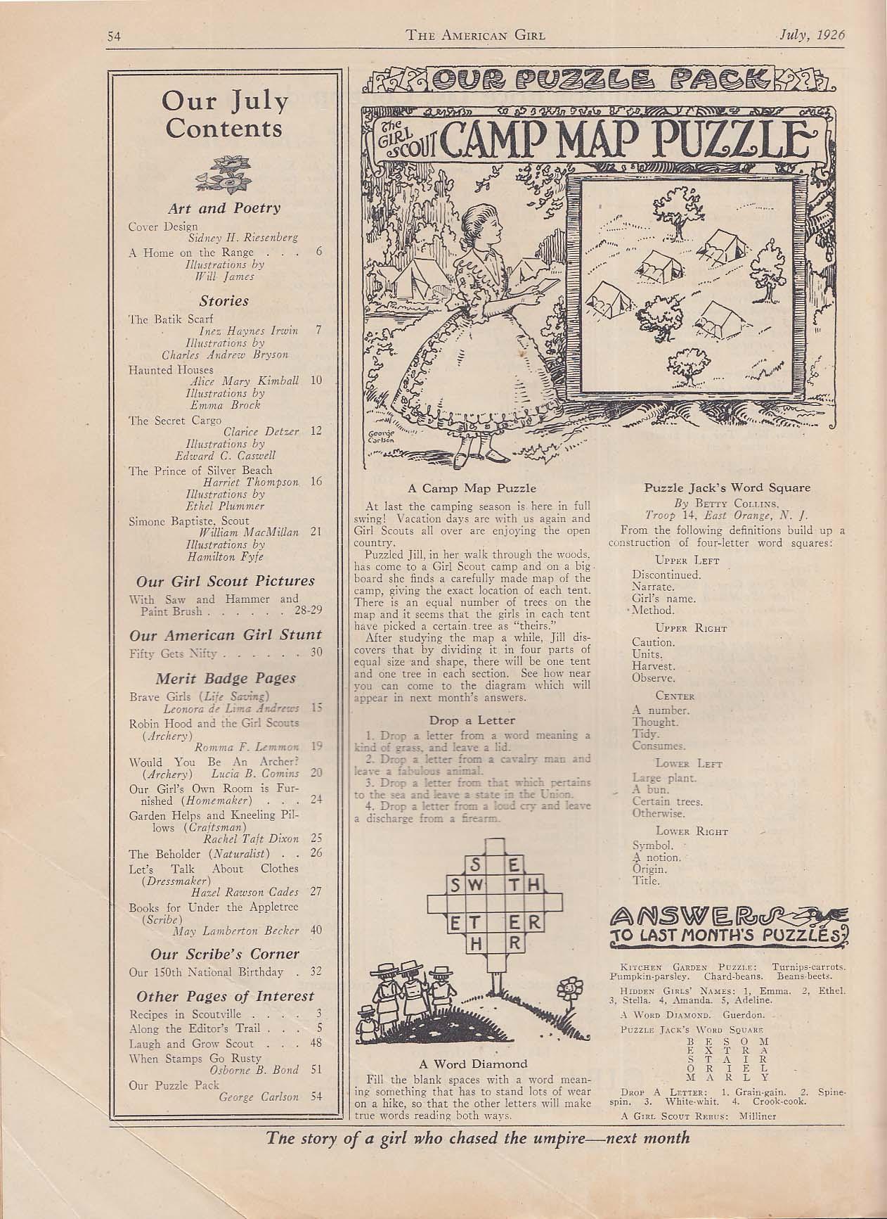 The AMERICAN GIRL Inez Haynes Irwin Alice Mary Kimball Clarice Detzer + 7 1926