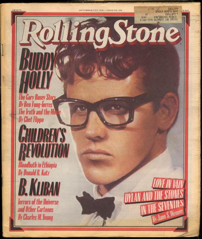ROLLING STONE Buddy Holly Gary Busey Kliban Bob Dylan Stones 9/21 1978