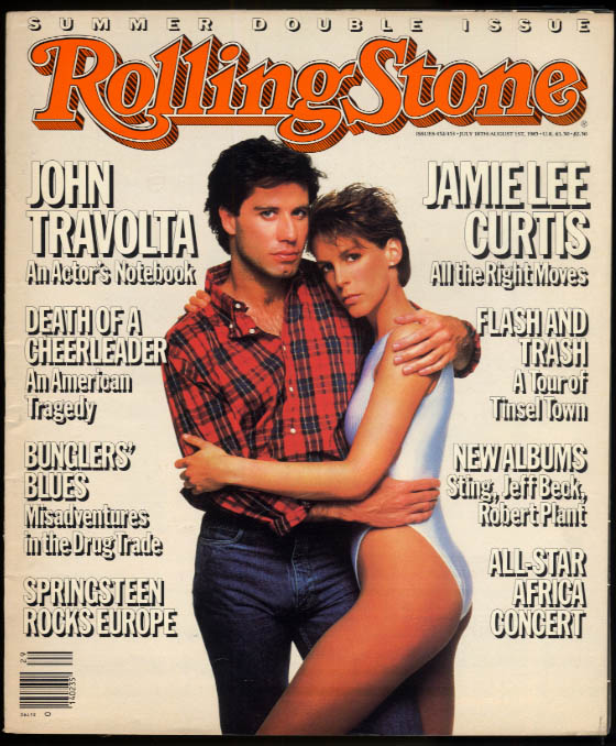 ROLLING STONE John Travolta Jamie Lee Curtis Bruce Springsteen Sting Summer 1985