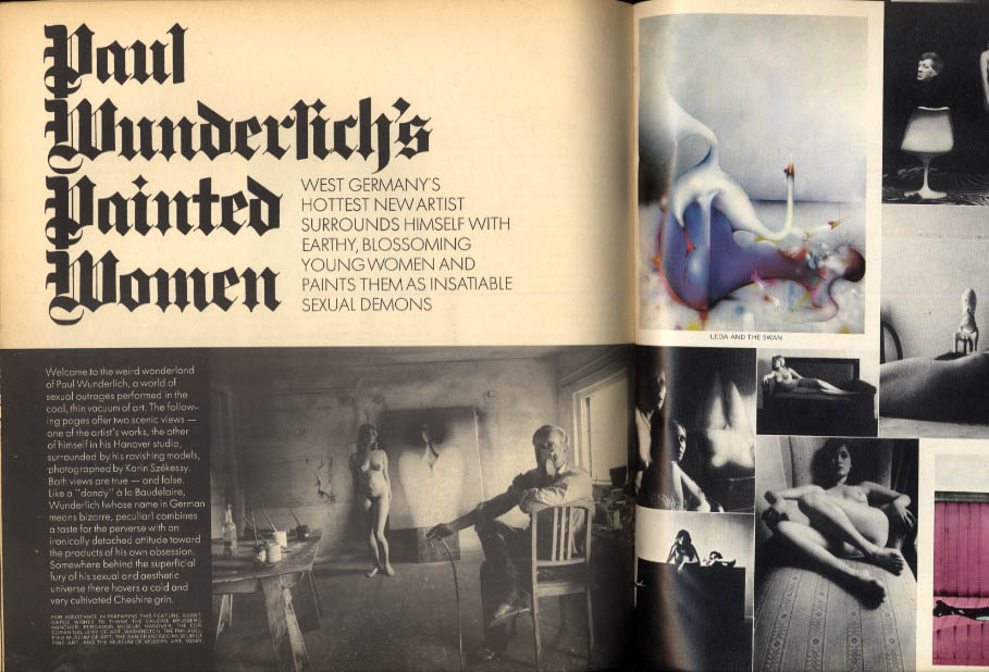 AVANT GARDE #7 Paul Wunderlich Pennebaker Guy Bourdin William O Douglas + 3 1969