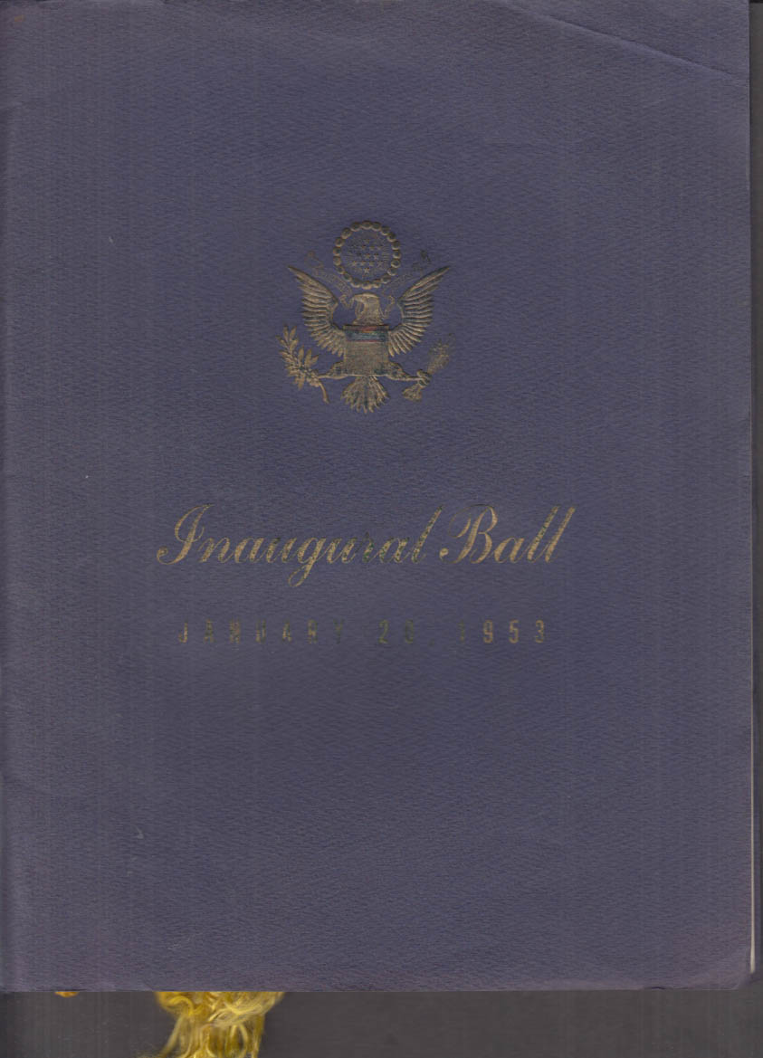Eisenhower-Nixon Presidential Inaugural Ball Official Program 1953