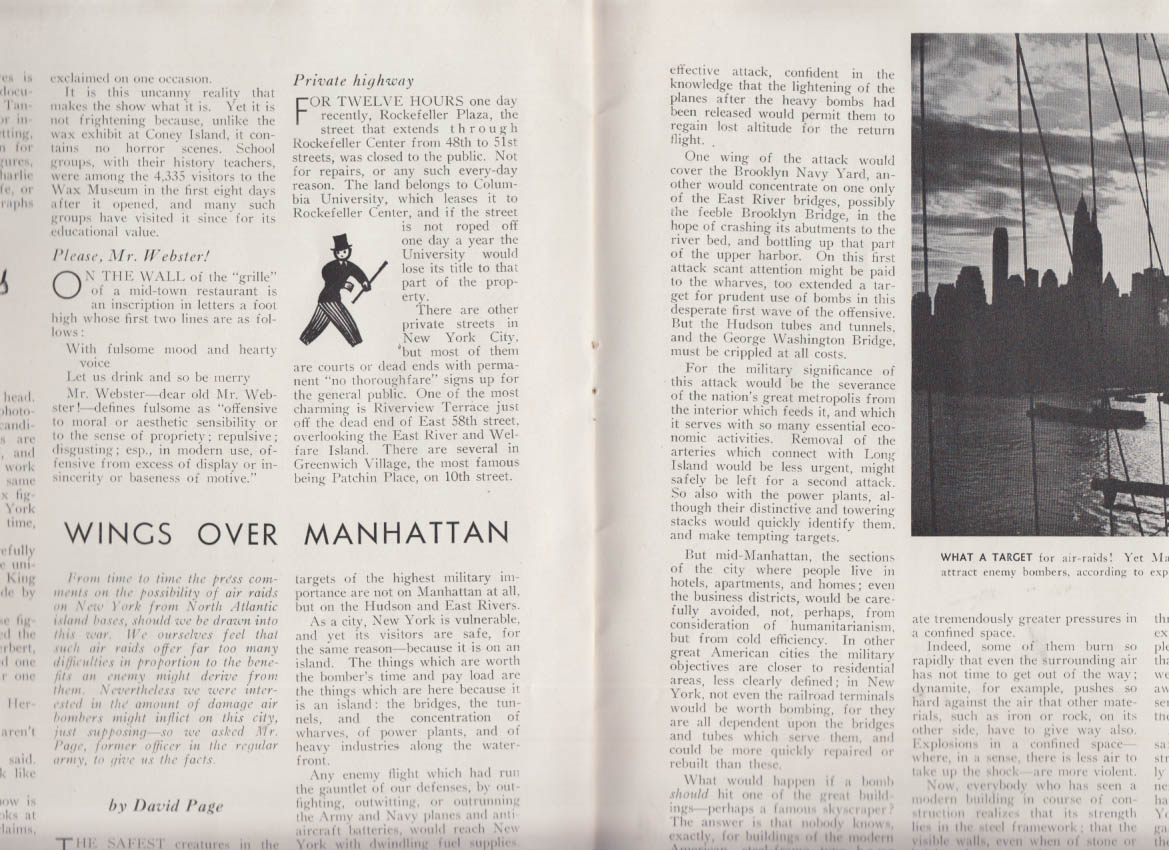 METROPOLIS 10 1939 NY World's Fair; NY as air raid target; celebs; night life
