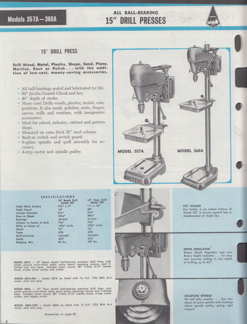 Toolkraft Quality Power Tools Catalog 1965