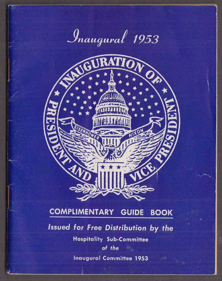 Eisenhower-Nixon Inaugural Complimentary Guide Book 1953