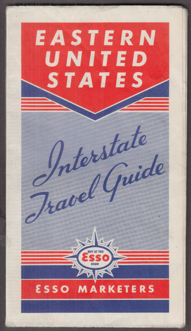 Esso Gasoline Interstate Route Map Southeastern Section 1940