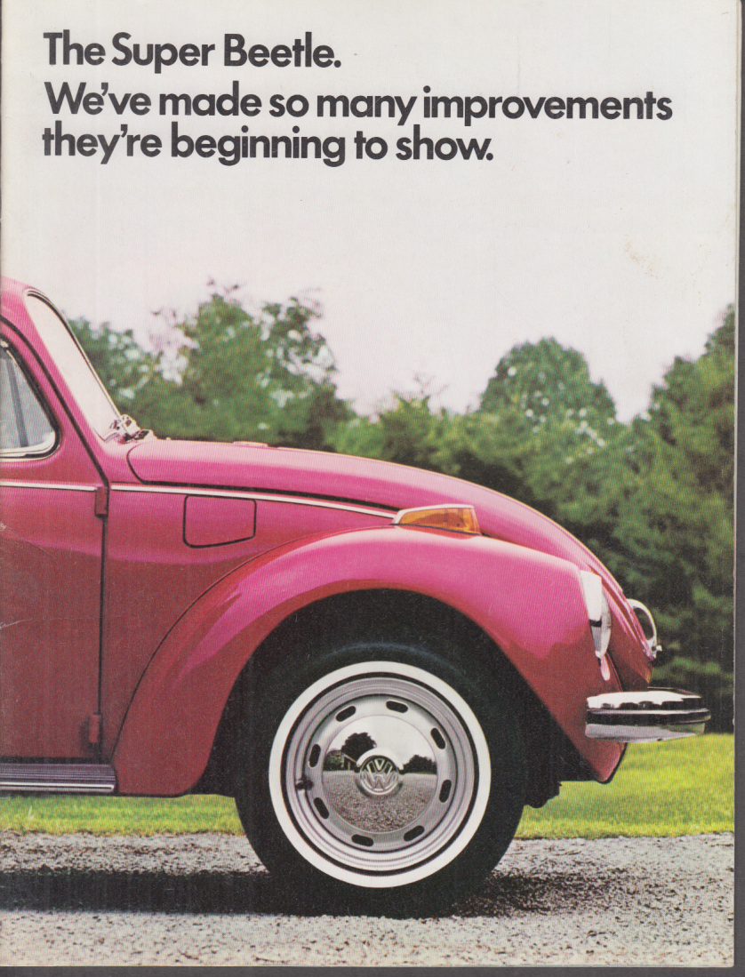 1971 Volkswagen Super Beetle sales brochure