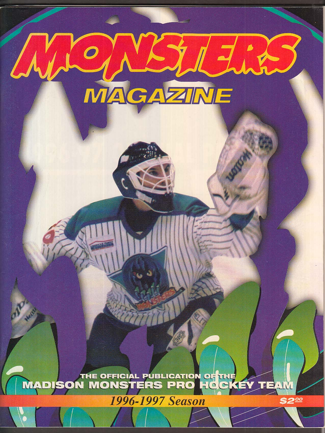 Madison Monsters Pro Hockey Team Official Publication 1996-1997