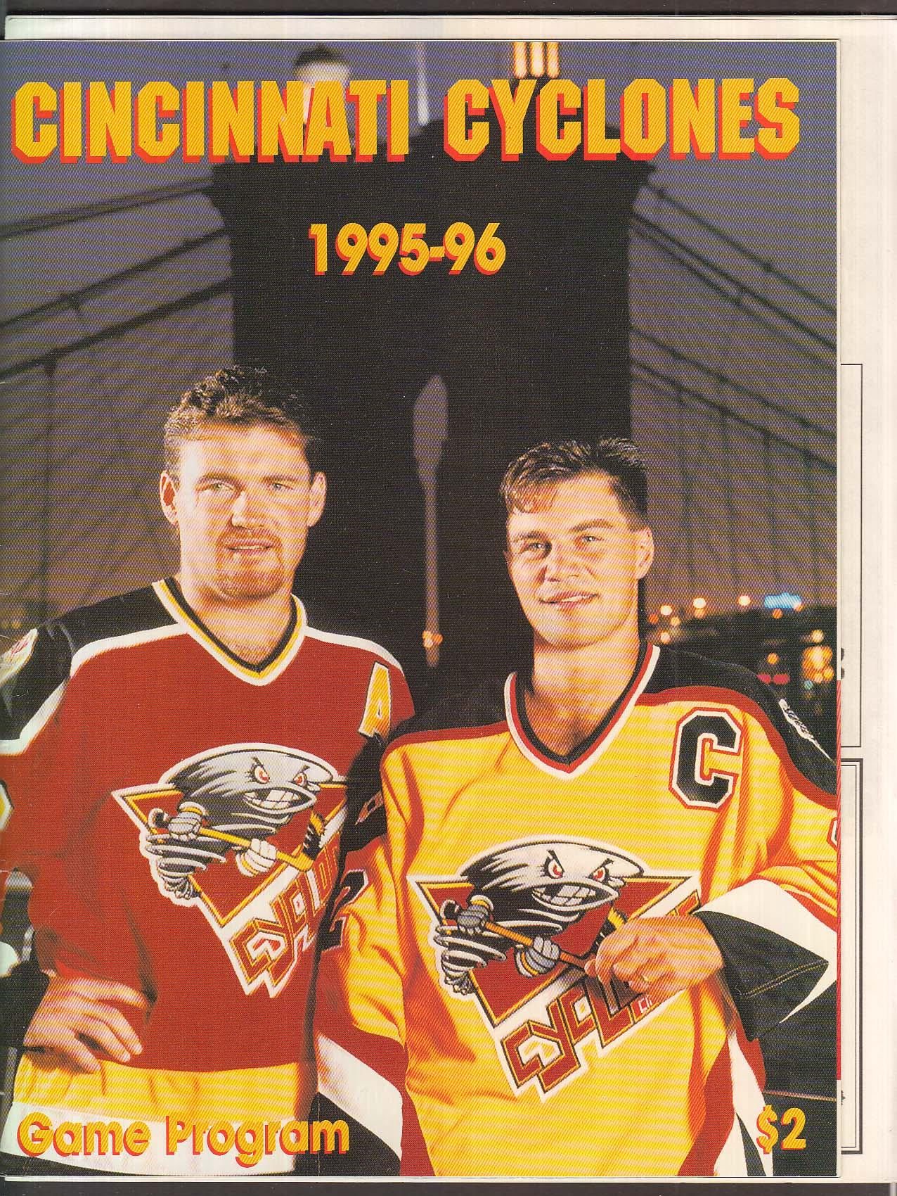 Cincinnati Cyclones 1995-1996 Game Program UNSCORED