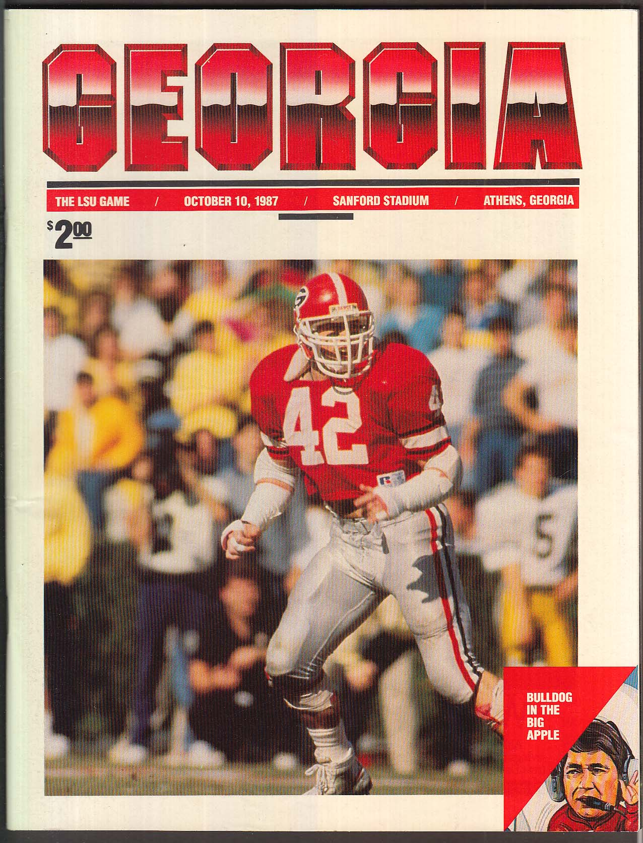 Georgia the LSU Game Official Souvenir Program 10/10 1987
