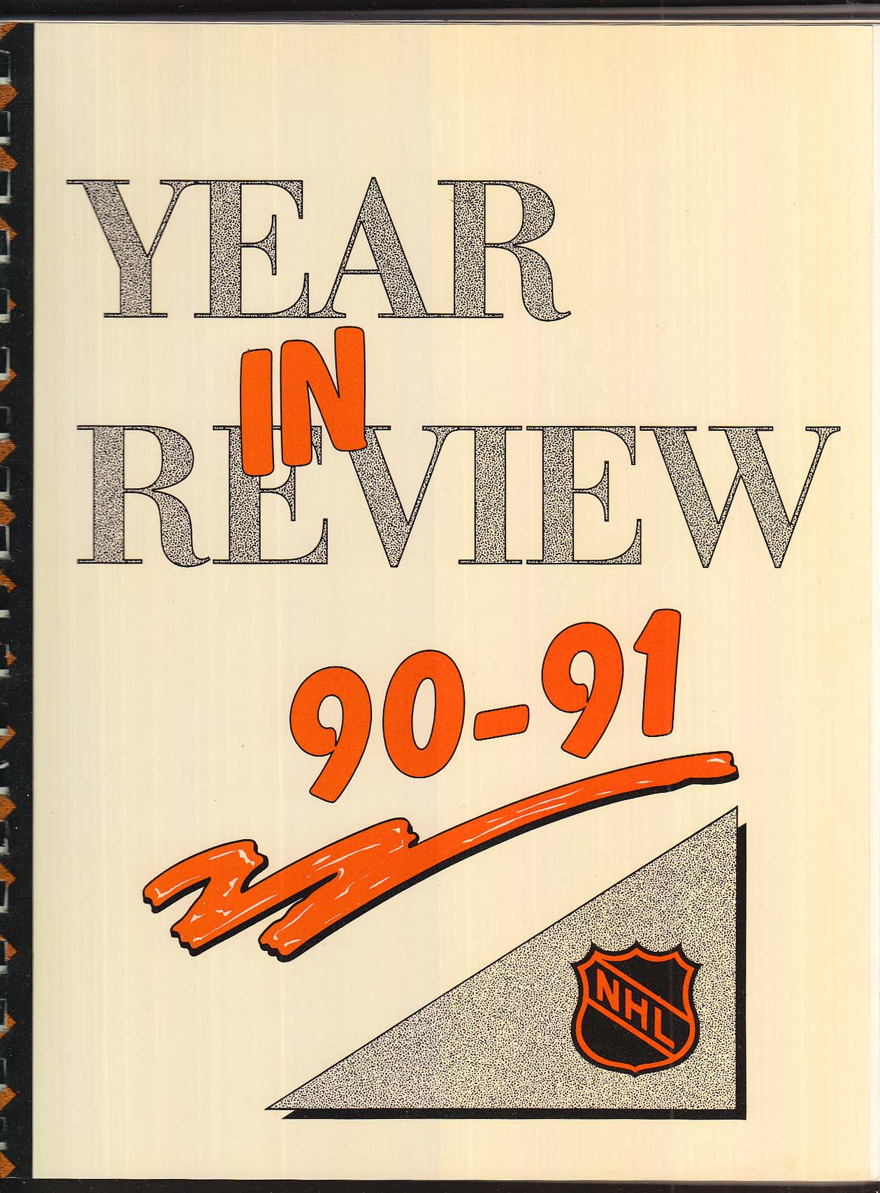 NHL Communications Department National Hockey League Year in Review 1990-1991