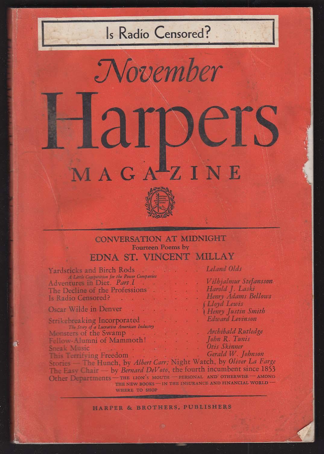 HARPER'S Edna St Vincent Millay Oscar Wilde + 11 1935