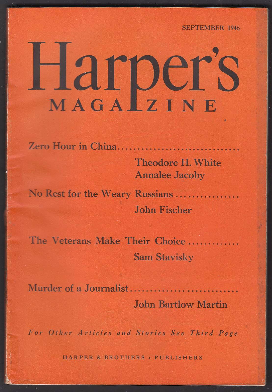 HARPER'S Annalee Jacoby John Fischer Sam Stavisky ++ 9 1946
