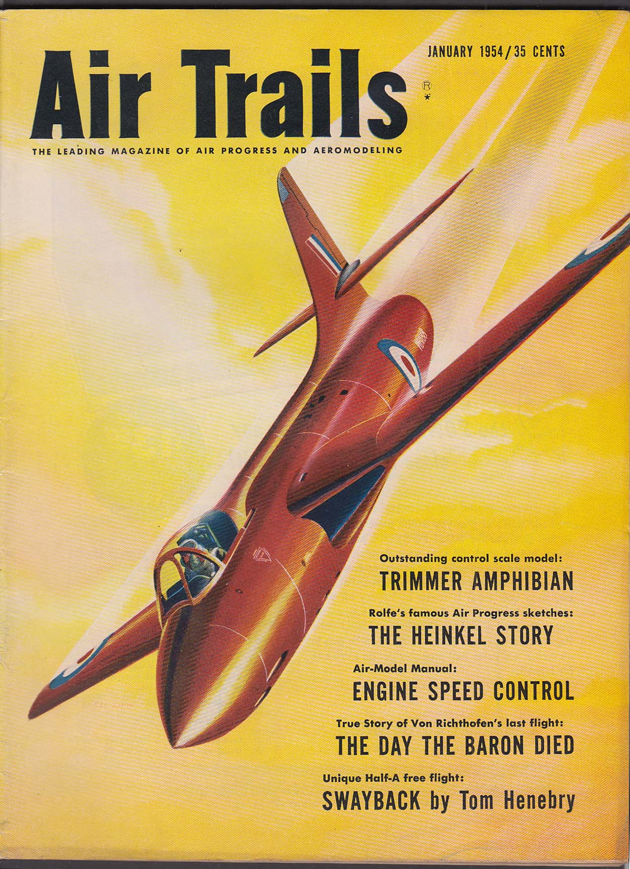 The Jumping Frog Rare Used And Out Of Print Books Magazines Schematic August 1958 American Modeler Airplanes Rockets Air Trails Trimmer Amphibian Heinkel Von Richthofen Swayback 1 1954