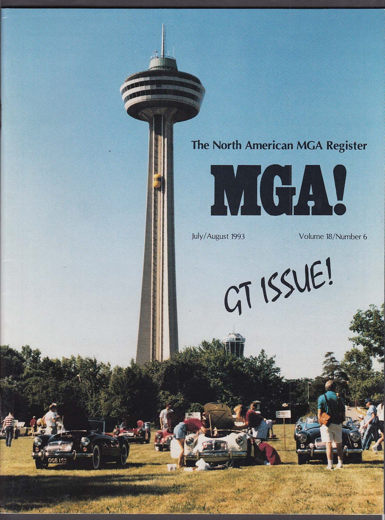 North American MGA Register GT-18 Report + 7-8 1993