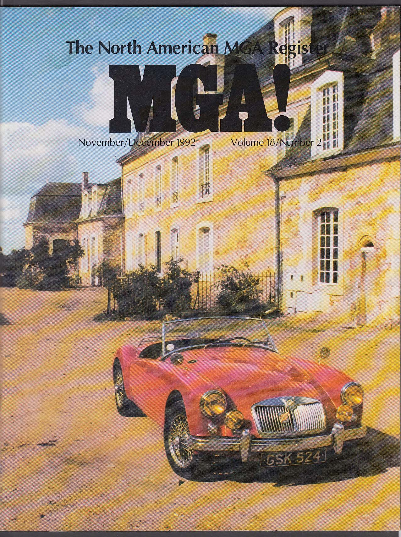North American MGA Register Lime Rock MG-18 Update + 11-12 1992