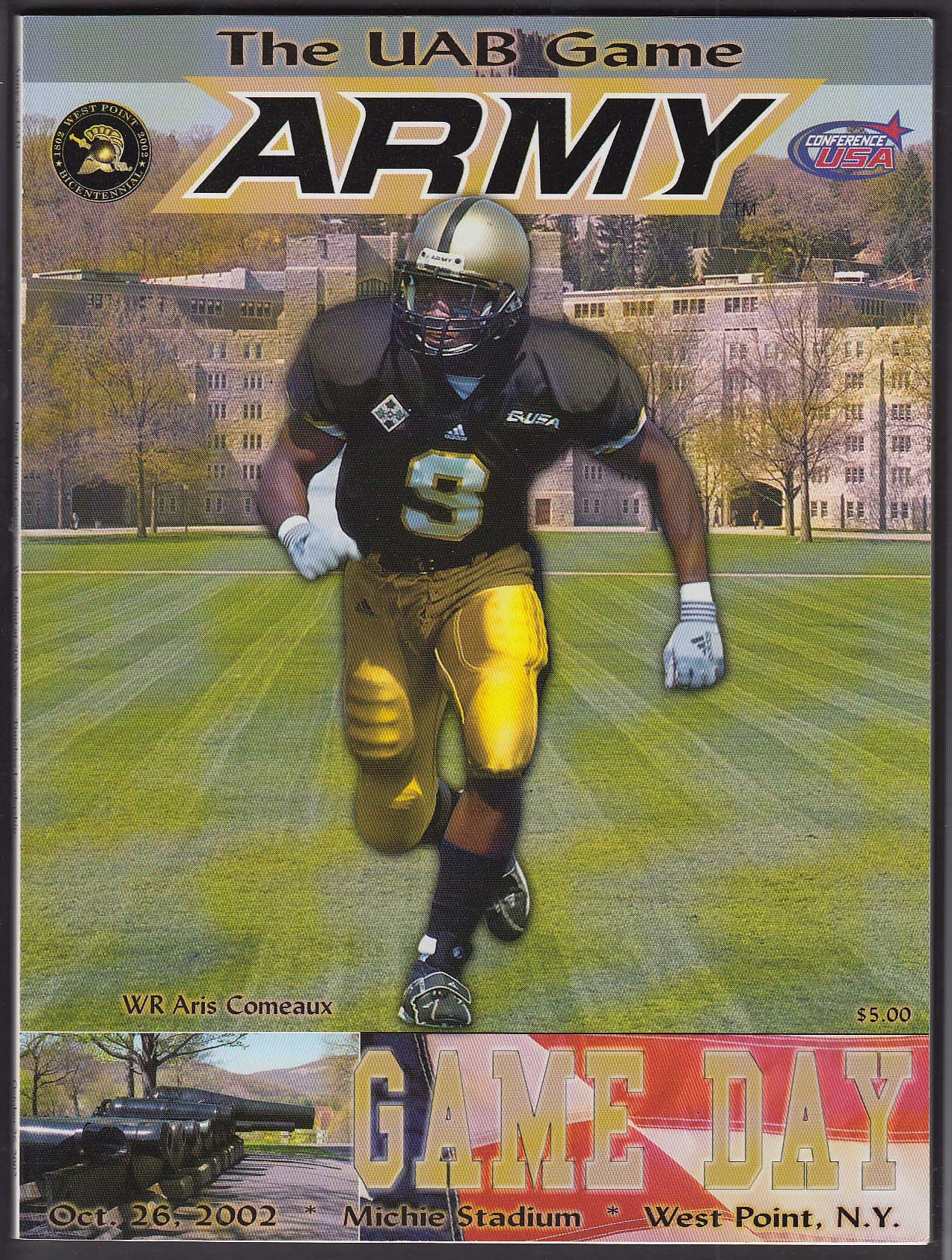 Army Football vs UAB Game Day Souvenir Program 10/26 2002