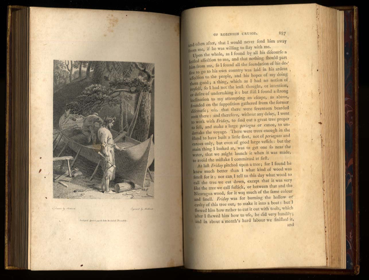 Daniel DeFoe: Life & Strange Adventures of Robinson Crusoe 1790 1st Strothard ed