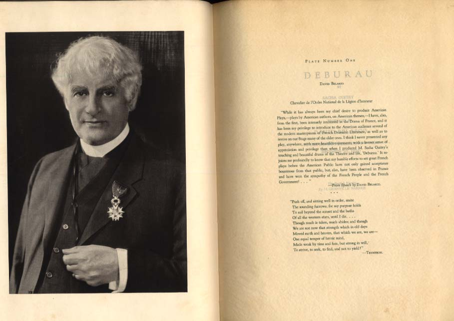 Sacha Guitry: Deburau produced by David Belasco 1920 1st ed 1925