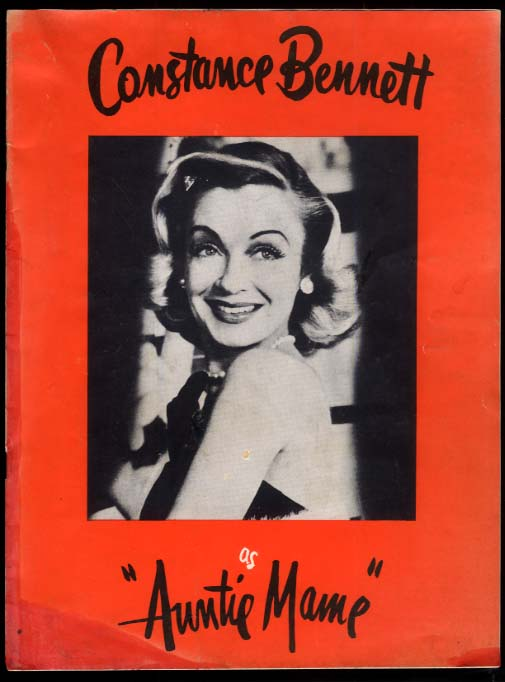 Constance Bennett as Auntie Mame souvenir program ca 1957