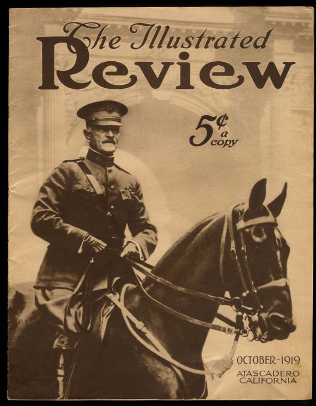 The ILLUSTRATED REVIEW 10 1919 Pershing Palestine Petain Navy Dempsey ad
