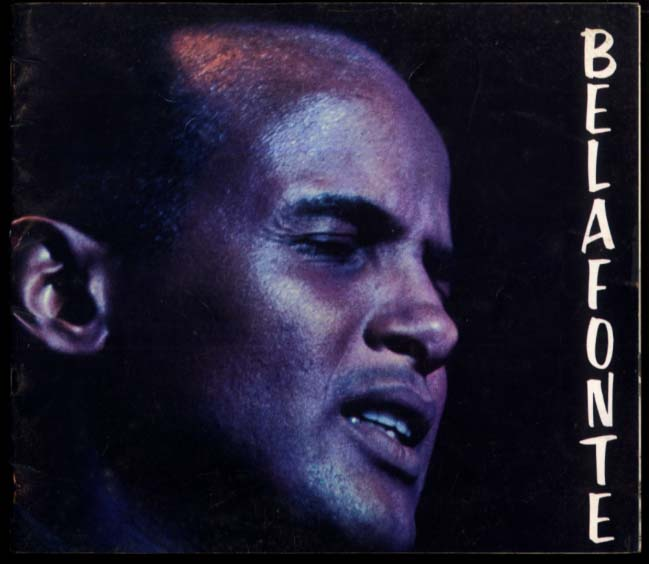 Harry Belafonte performance program 1960s introducing Nana Mouskouri