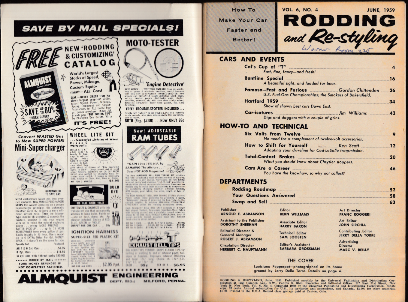 RODDING & RE-STYLING 6 1959 Bayou Brute '27 T-bucket; Cadillac tranny swap