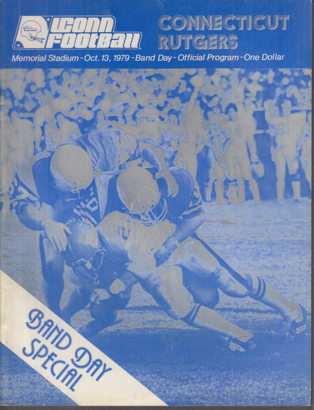 UCONN vs RUTGERS College Football Program 10/13 1979