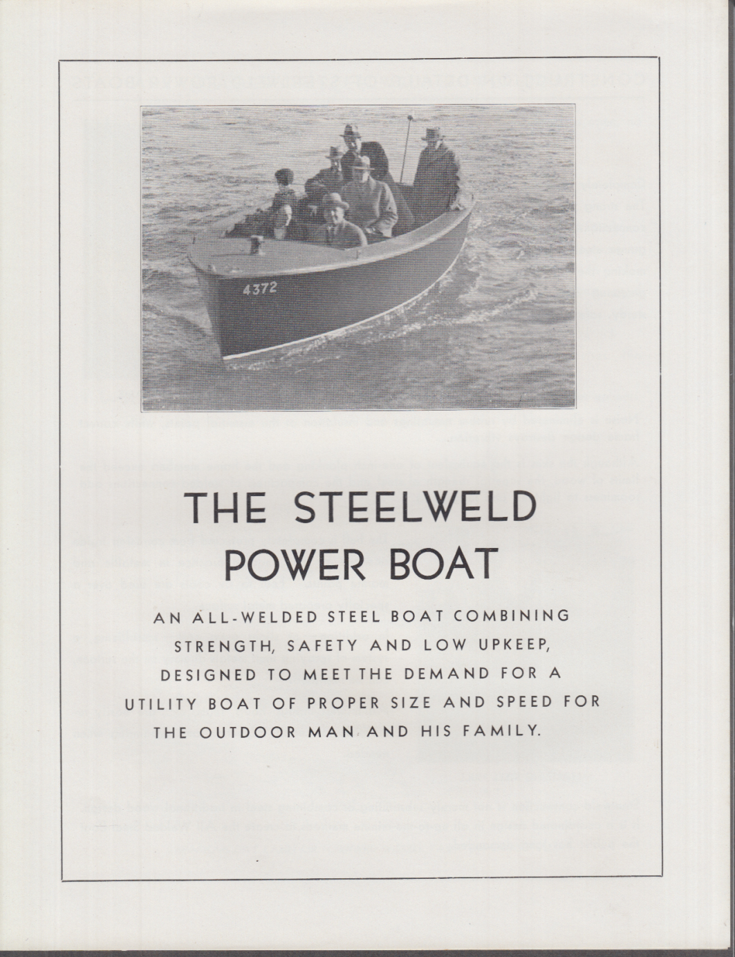 The Steelweld Power Boat sales folder James McKinney & Son 1930s