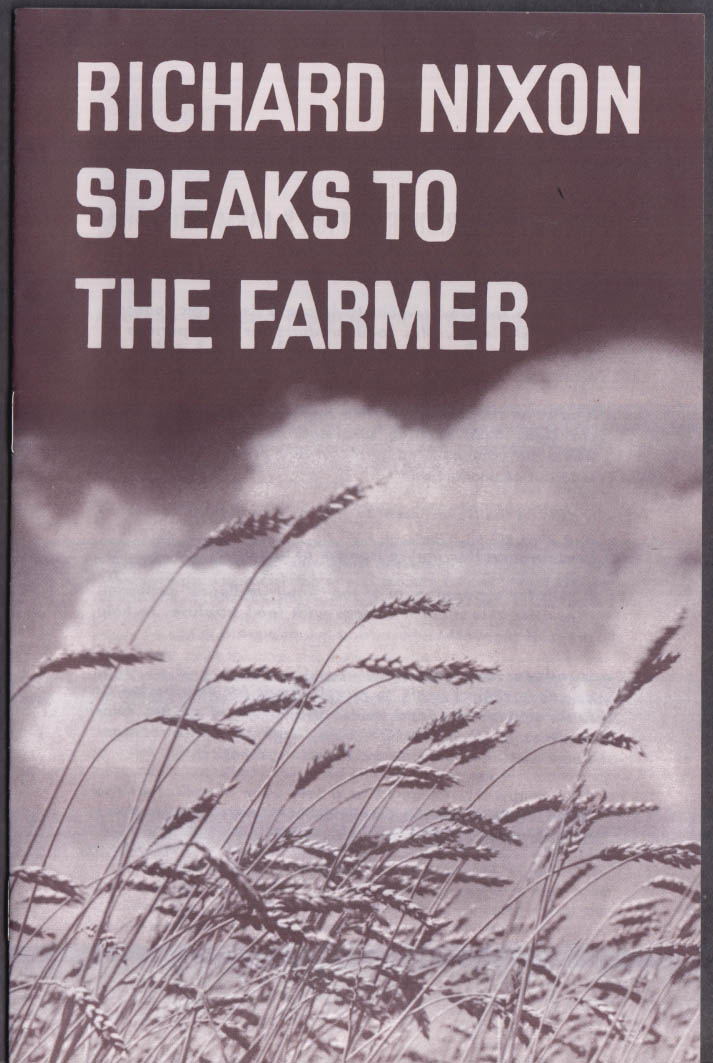 Richard Nixon Speaks to the Farmer 1960 campaign booklet