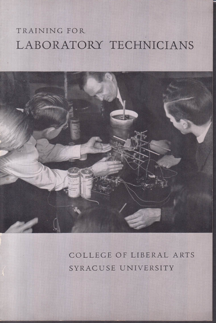Syracuse University Laboratory Technicians Training brochure ca 1946