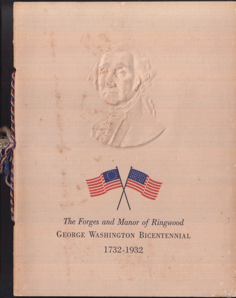 George Washington Bicentennial Forges & Manor of Ringwood NJ 1932