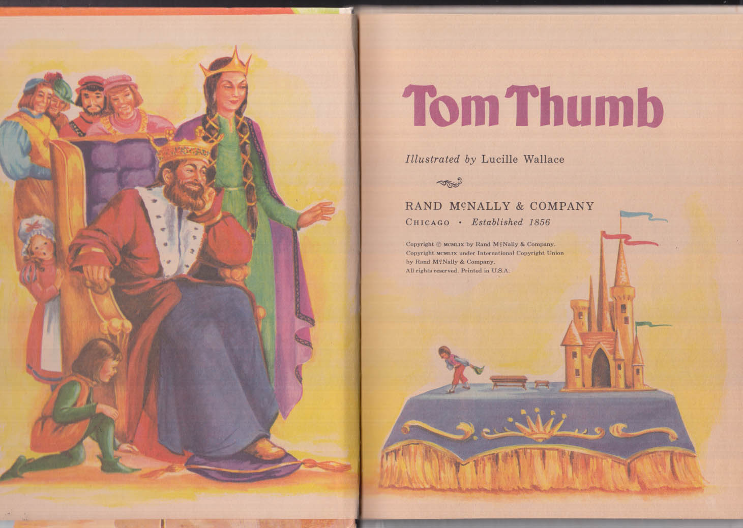 Tom Thumb: Rand McNally Elf Book #8323 children's book 1959 1st ed
