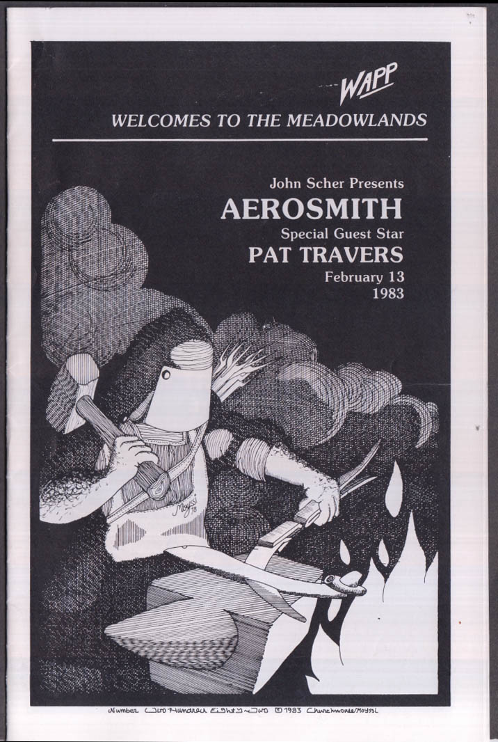 Aerosmith & Pat Travers WAPP At the Meadowlands program 1983
