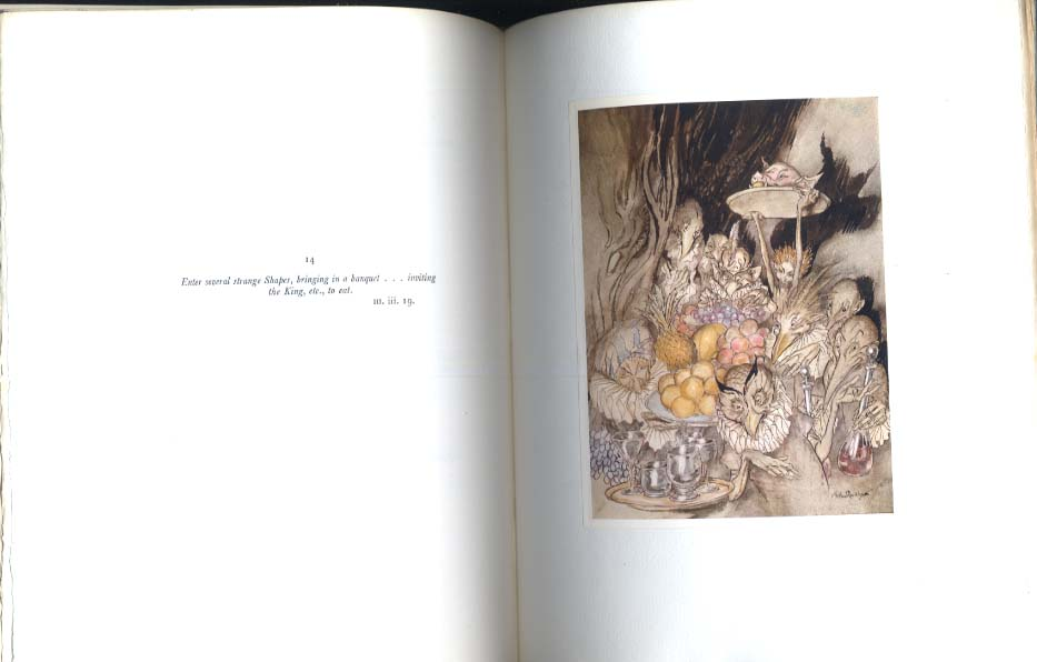 Shakespeare The Tempest SIGNED Arthur Rackham #57/520 copies 1926
