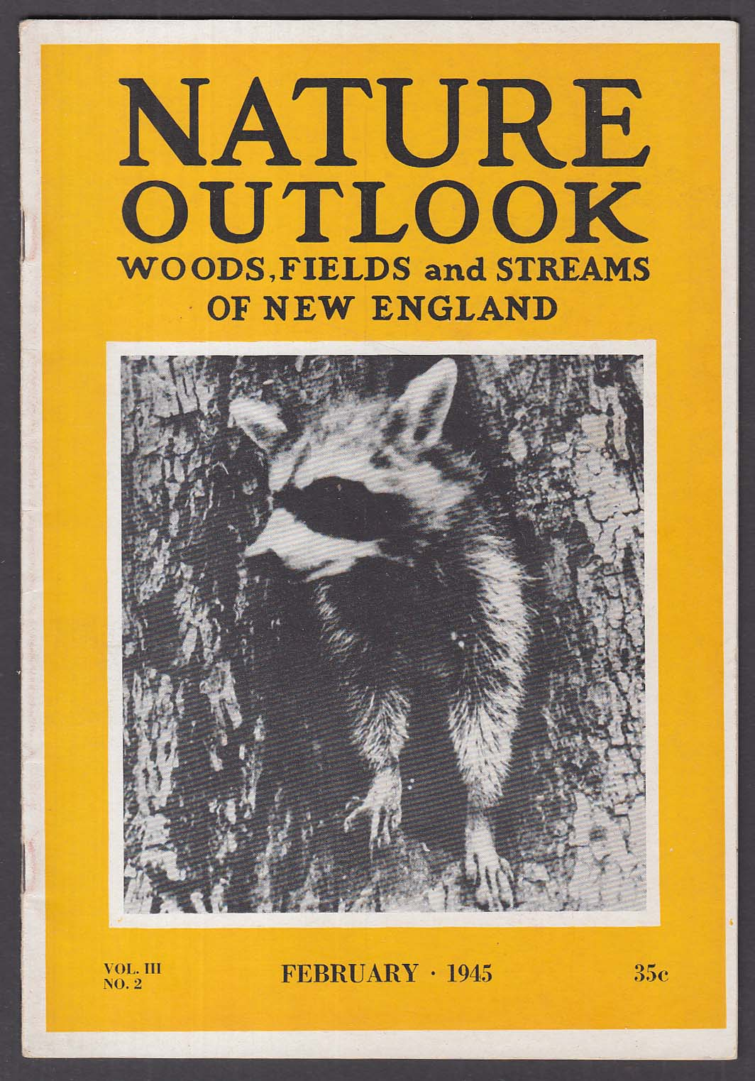 NATURE OUTLOOK Worcester Natural History Society Raccoons Concord River + 2 1945