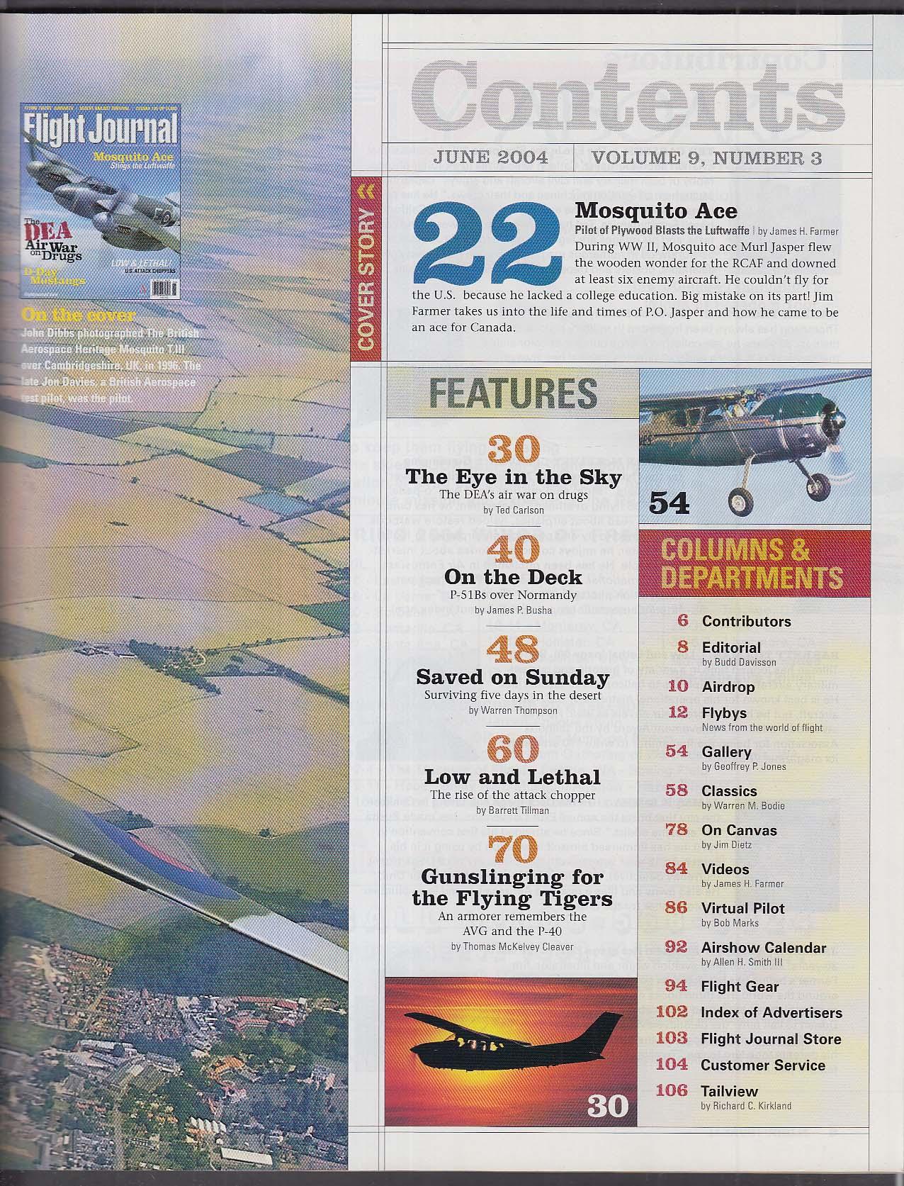 FLIGHT JOURNAL Murl Jasper Mosquito Flying Tigers AVG P-40 + 6 2004