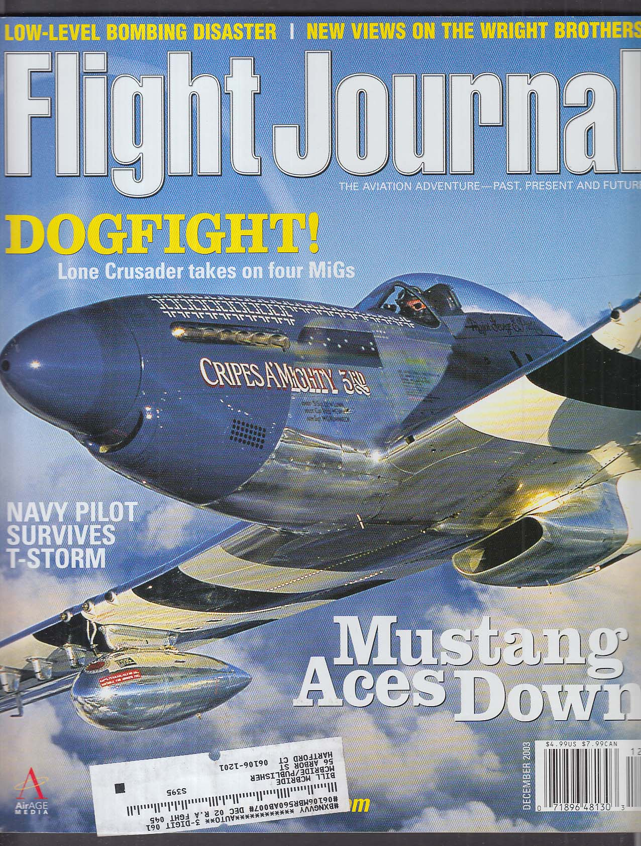 FLIGHT JOURNAL George E Preddy P-51 Mustang MiG-17 Vietnam Wright Flyer 12 2003