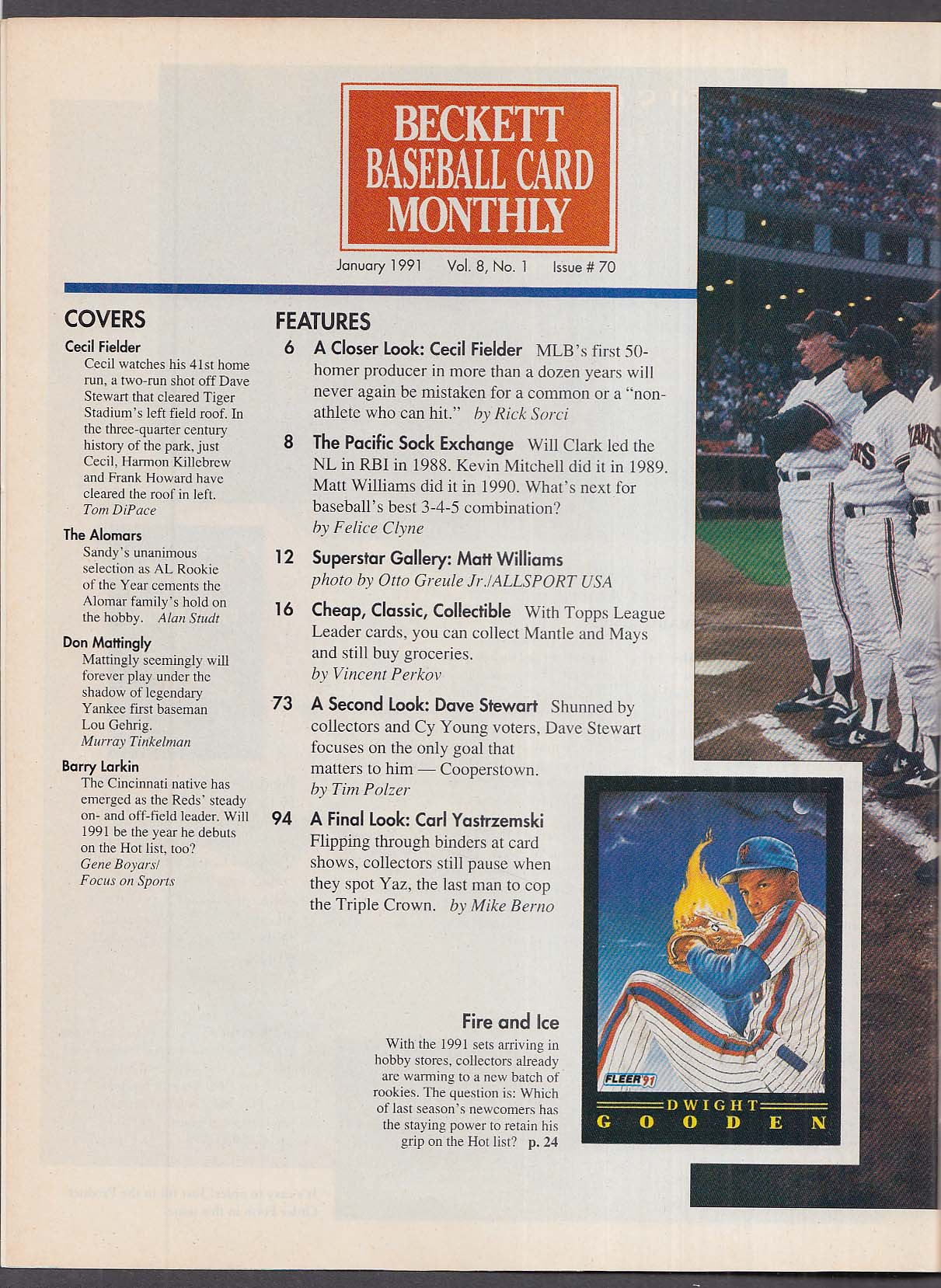 Beckett Baseball Card Monthly 70 Cecil Fielder Matt