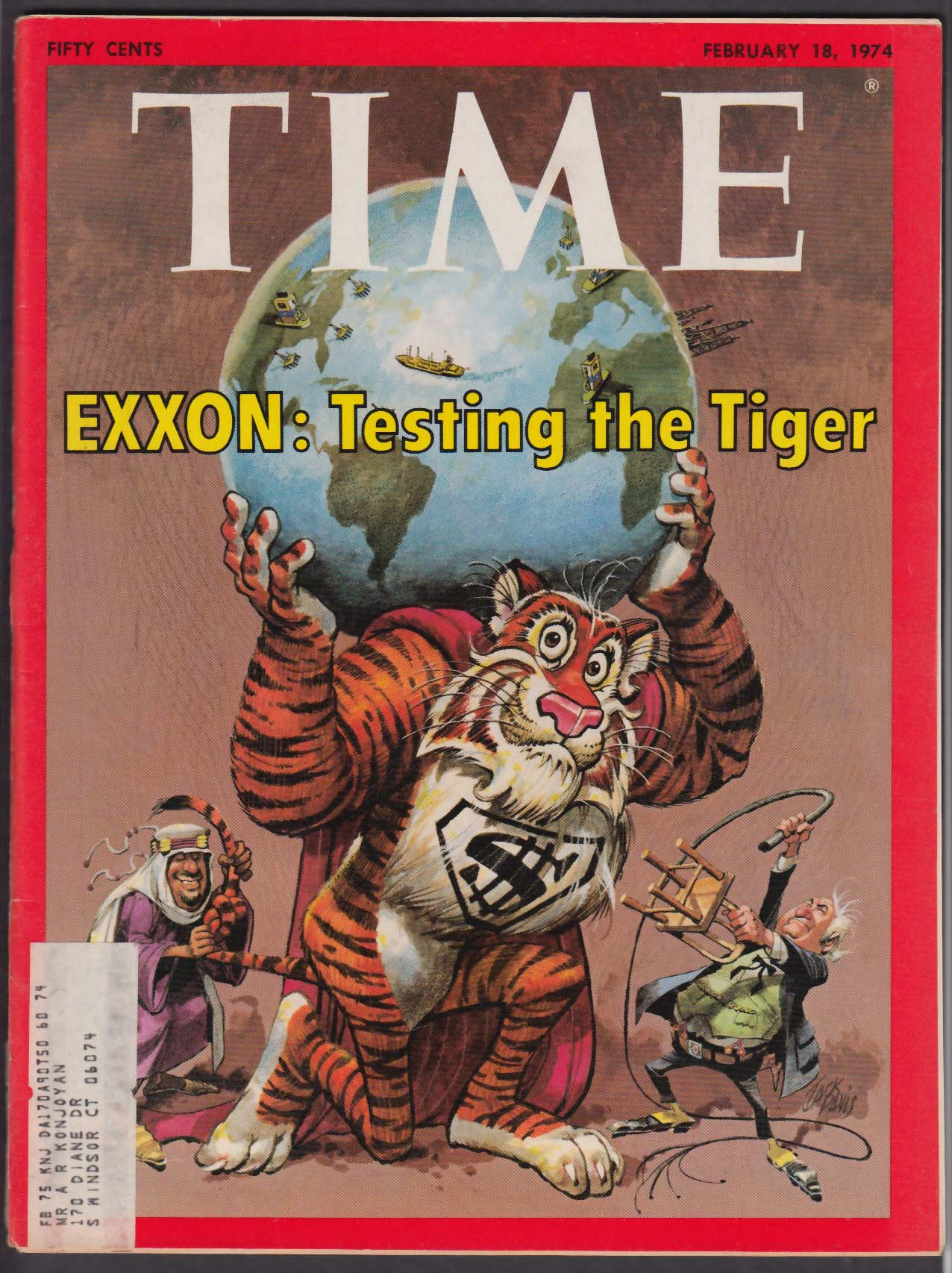 TIME Exxon Energy Crisis Skylab Watergate Nixon Kissinger Lindbergh + 2/18 1974