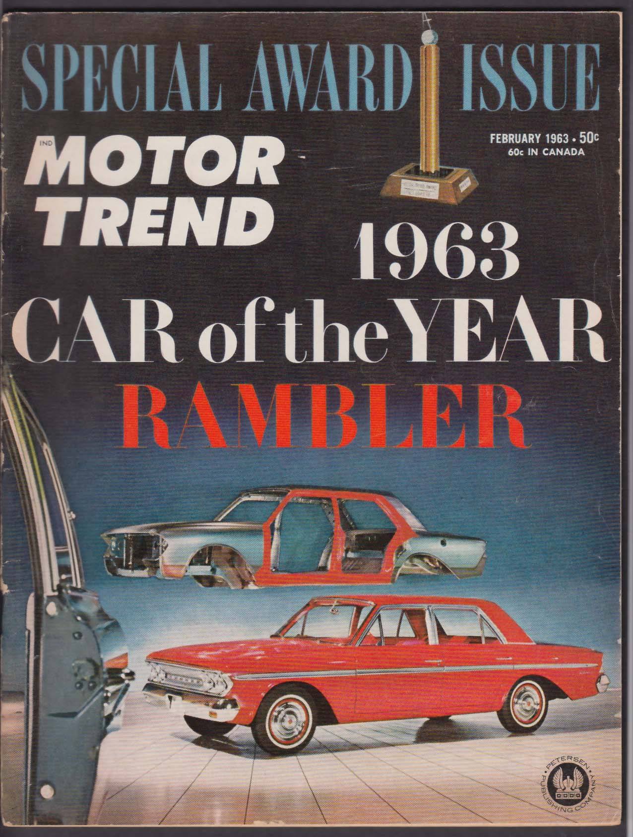 MOTOR TREND Car of the Year Issue Rambler American Dodge Dart road